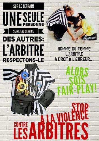Arbitres stop violence 1