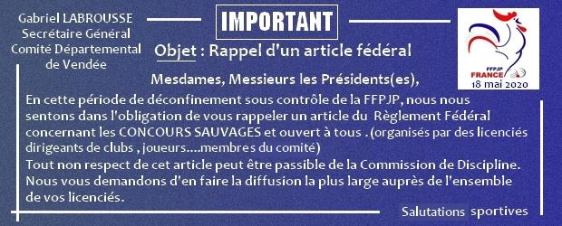 Article federal 1