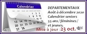 Calendrier concours site 13