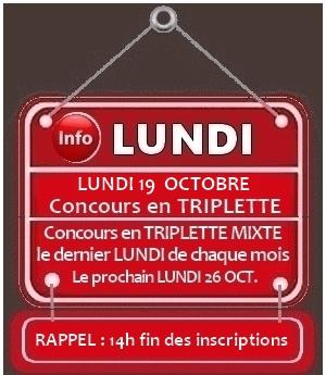Concours tr 19 oct