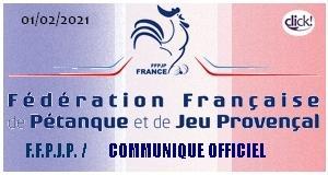 Ffpjp communique officiel 01 fevrier 2021